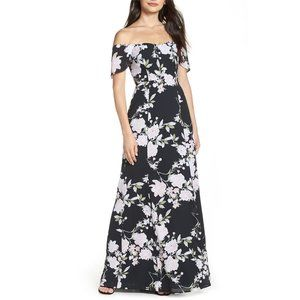 NWT Wayf Rachel Off the Shoulder Gored Maxi Dress